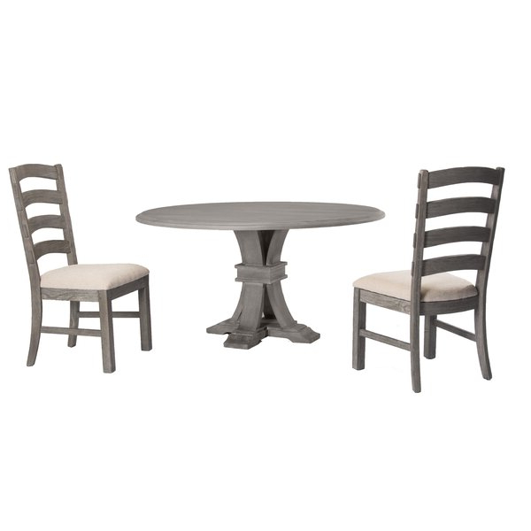Most Popular Kinsler 3 Piece Bistro Sets Throughout Hillhouse 3 Piece Solid Wood Dining Setred Barrel Studio Savings (View 19 of 20)