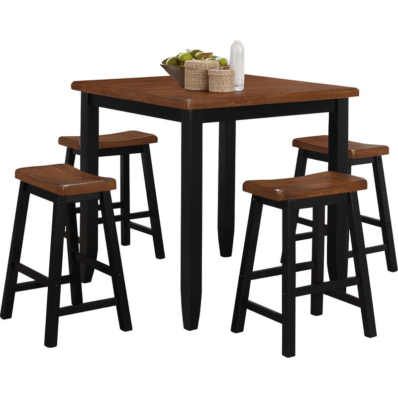Most Popular Simmons Casegoods Ruggerio 5 Piece Counter Height Pub Table Set Throughout Tenney 3 Piece Counter Height Dining Sets (View 13 of 20)