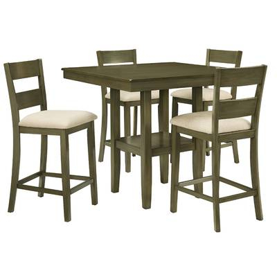 Most Recent Biggs 5 Piece Counter Height Solid Wood Dining Sets (Set Of 5) Regarding Alcott Hill Biggs 5 Piece Counter Height Solid Wood Dining Set (Gallery 9 of 20)