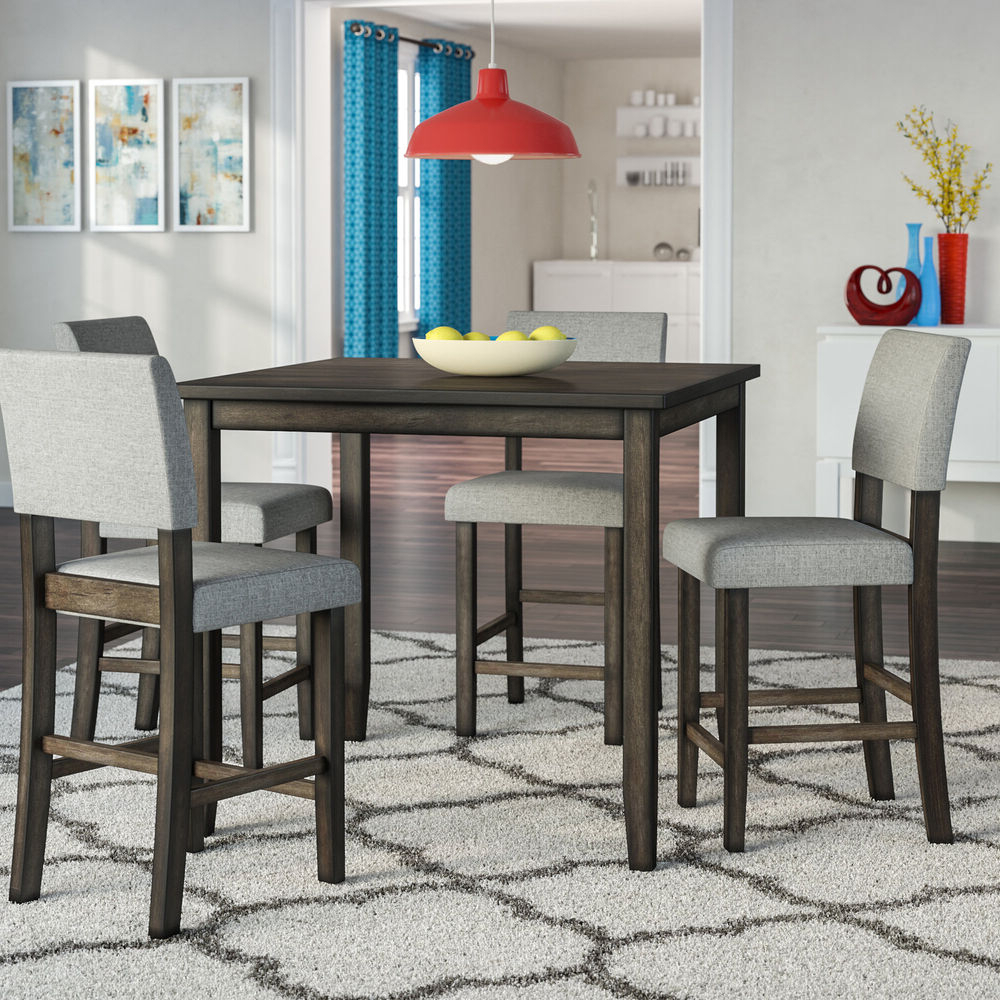 Most Recent Conover 5 Piece Dining Sets Within Ebern Designs Terrazas 5 Piece Dining Set (View 15 of 20)