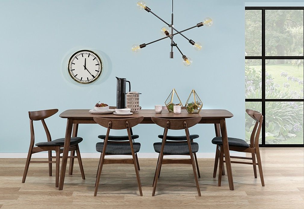 Most Recent Evellen 5 Piece Solid Wood Dining Sets (Set Of 5) For Elli 7 Piece Dining Room Suite (View 13 of 20)