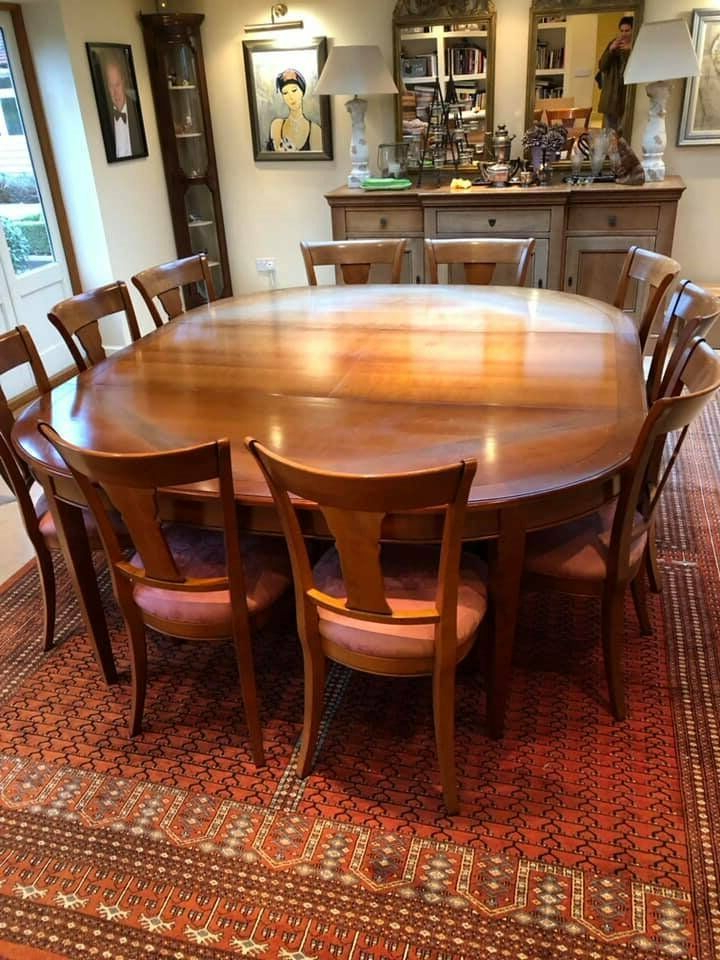 Most Recent French Grange Rochambeau Dining Room Table And Chairs In For Chelmsford 3 Piece Dining Sets (View 13 of 20)