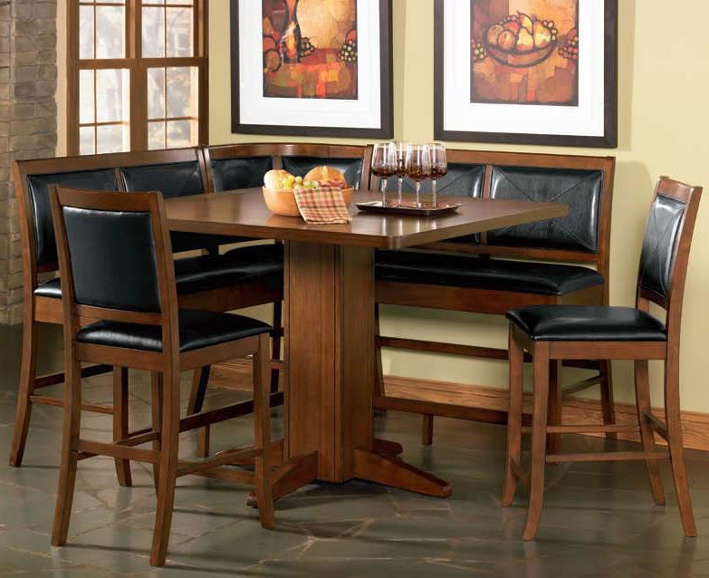 Most Recent Mysliwiec 5 Piece Counter Height Breakfast Nook Dining Sets Pertaining To Counter Height Corner Nook Dining Set (View 13 of 20)