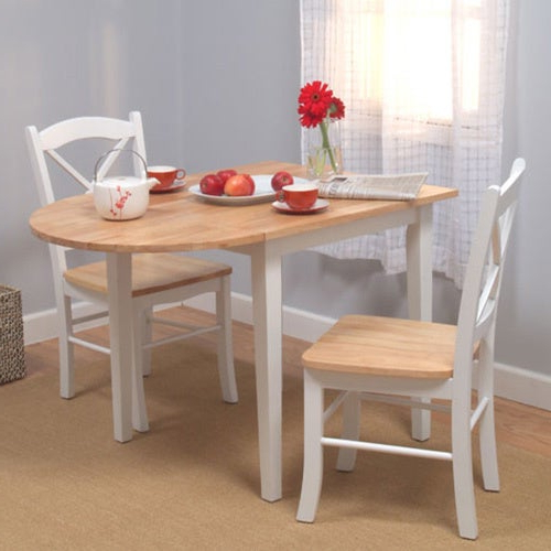 Most Recent Shop Simple Living Country Cottage Drop Leaf 3 Piece Dining Set For 3 Piece Dining Sets (Gallery 15 of 20)