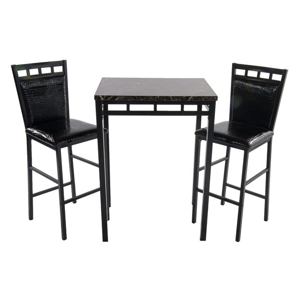 Most Recent Valladares 3 Piece Pub Table Sets For Eric 3 Piece Pub Table Setlatitude Run Sale On (Gallery 4 of 20)