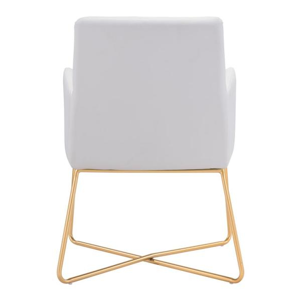 Most Recent Zuo Honoria White Arm Chair 101147 – The Home Depot Within Honoria 3 Piece Dining Sets (View 14 of 20)