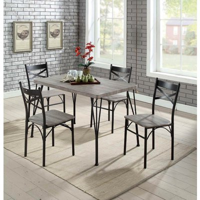 Most Recently Released Andover Mills Middleport 5 Piece Dining Set Table Top/chair Color Regarding Bearden 3 Piece Dining Sets (View 12 of 20)