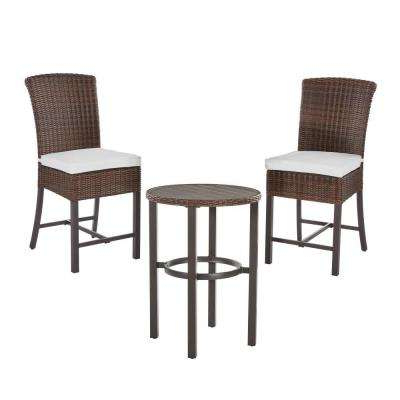 Most Recently Released Bate Red Retro 3 Piece Dining Sets Inside Bar Height – Patio Dining Sets – Patio Dining Furniture – The Home Depot (View 12 of 20)