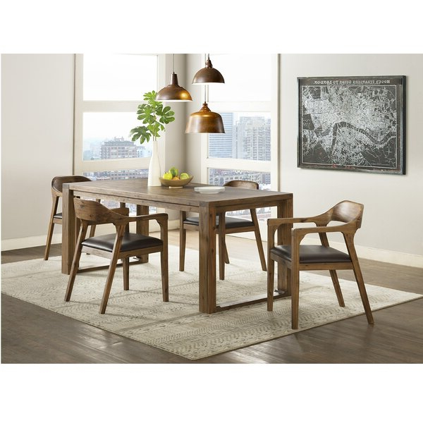 Most Recently Released Bearden 3 Piece Dining Sets Intended For Bourgoin 5 Piece Drop Leaf Solid Wood Dining Setfoundry Select (Gallery 15 of 20)