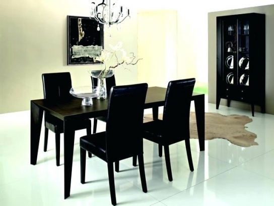 Most Recently Released Del Mar Ebony 5 Pc Round Dining Set Room Sets Black With Ideas 6 Within Delmar 5 Piece Dining Sets (View 14 of 20)
