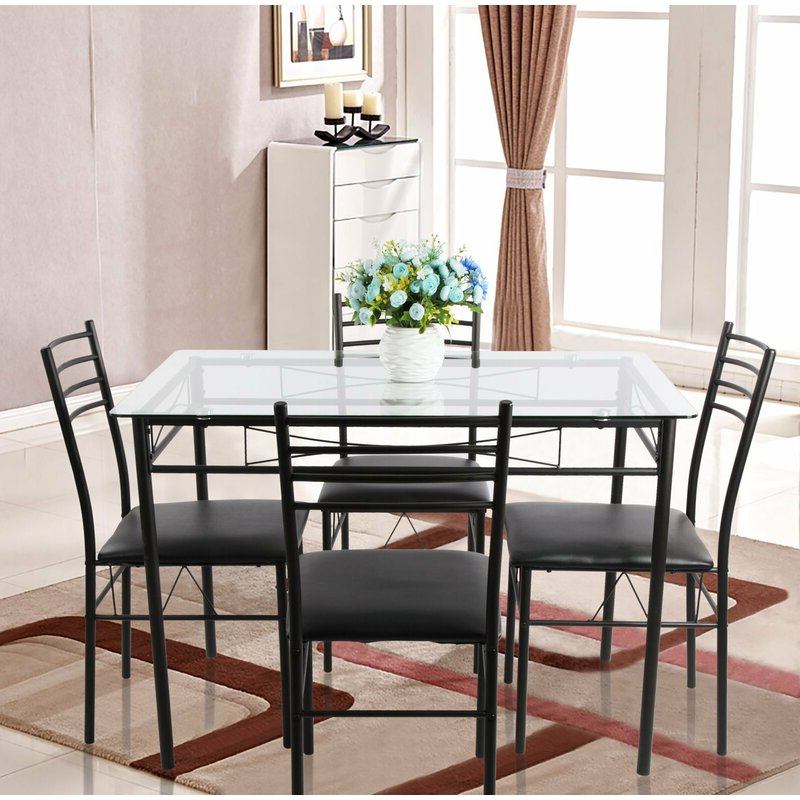 Most Recently Released Lightle 5 Piece Breakfast Nook Dining Sets With Regard To Ebern Designs Lightle 5 Piece Breakfast Nook Dining Set & Reviews (View 2 of 20)