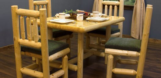 Most Recently Released North Woods Pine Log Dining Room Furnitureviking Industries Regarding Northwoods 3 Piece Dining Sets (View 11 of 20)