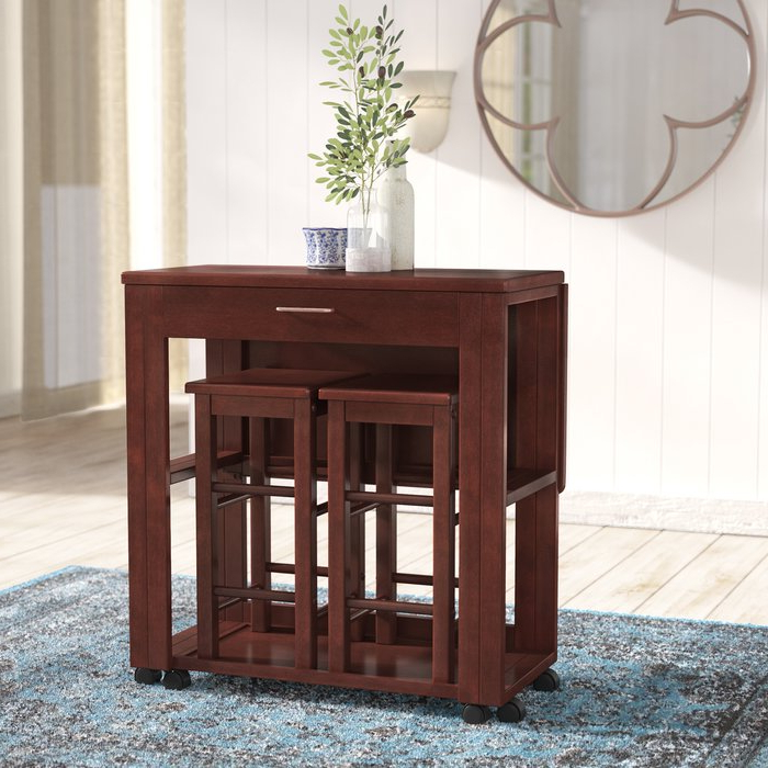 Most Recently Released Red Barrel Studio Crownover 3 Piece Bar Table Set & Reviews (View 9 of 20)