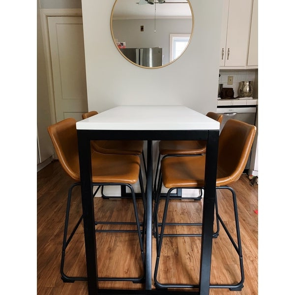 Most Recently Released Shop Kate And Laurel Kaya Counter Height Pub Table – 48x24x36 – Free For Kaya 3 Piece Dining Sets (View 15 of 20)