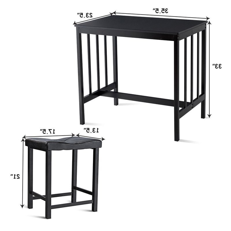 Most Recently Released Winston Porter Miskell 3 Piece Dining Set (View 9 of 20)