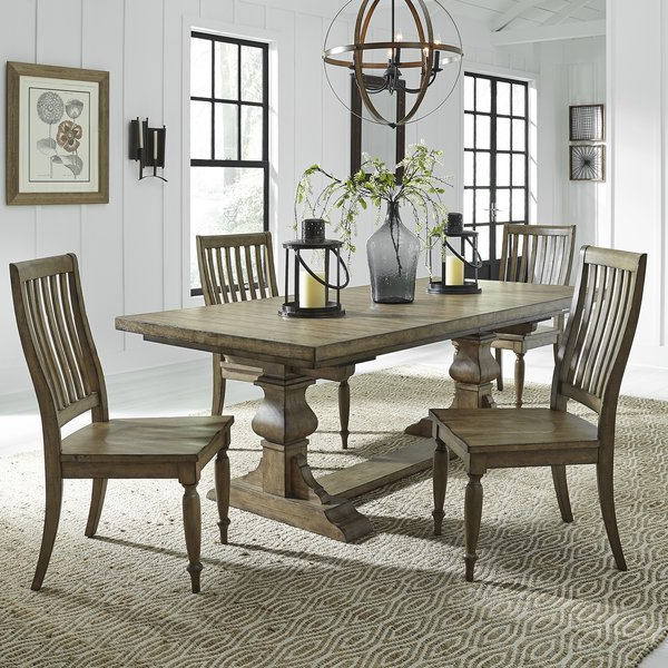 Most Recently Released Zachariah 5 Piece Extendable Dining Setalcott Hill #1 On (View 10 of 20)