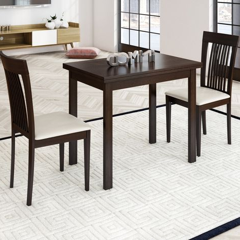 Most Up To Date 3 Piece Dining Set With Bearden 3 Piece Dining Sets (View 18 of 20)