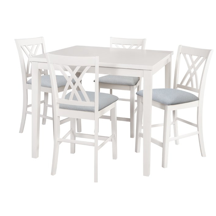 Most Up To Date 5 Piece Breakfast Nook Dining Sets Regarding Highland Dunes Gisella 5 Piece Breakfast Nook Dining Set & Reviews (View 15 of 20)