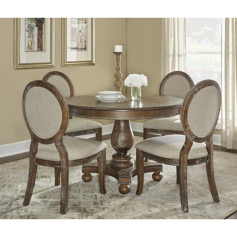 Most Up To Date 5 Piece Dining Sets Inside One Allium Way Hallows Creek 5 Piece Dining Set & Reviews (View 2 of 20)
