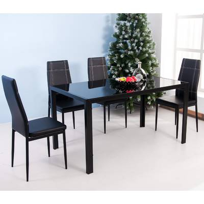 Most Up To Date Ebern Designs Lamotte 5 Piece Dining Set (Gallery 5 of 20)