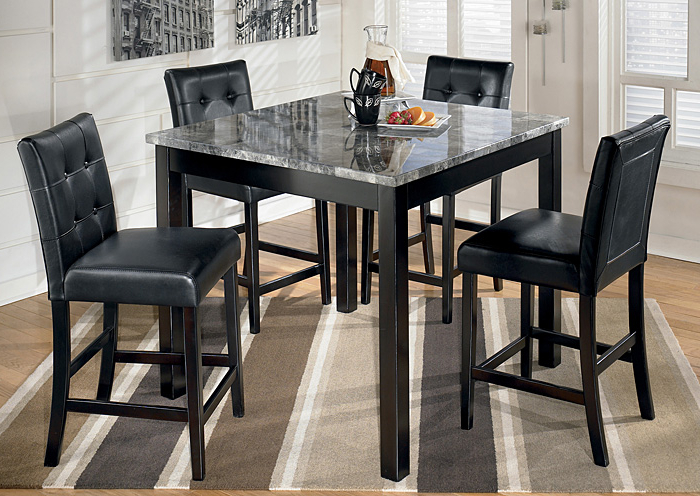 Most Up To Date Johnson's Furniture Maysville Square Counter Height 5 Piece Dining Set With 5 Piece Dining Sets (View 16 of 20)