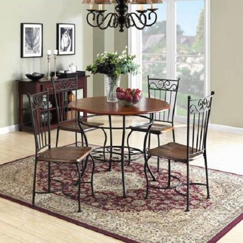Most Up To Date Kieffer 5 Piece Dining Sets Inside Dining Room Sets Antique Dinette 5 Piece Metal Wood Vintage Kitchen (View 10 of 20)
