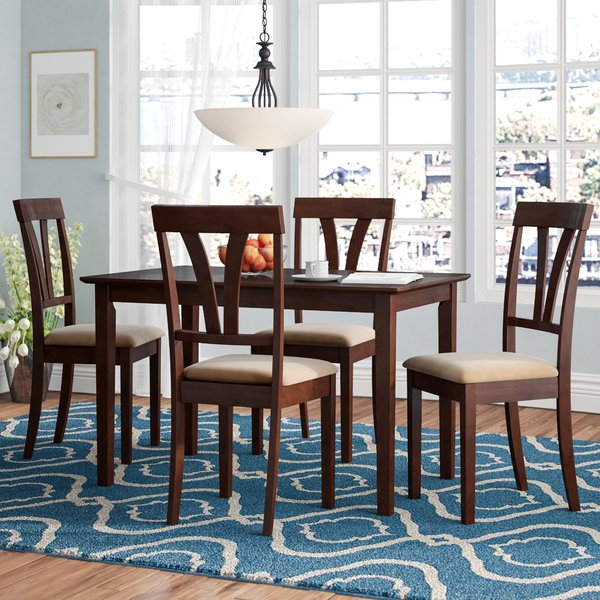 Most Up To Date Kieffer 5 Piece Dining Sets With Regard To Review Isabell 9 Piece Dining Setlaurel Foundry Modern Farmhouse ⊕ (View 17 of 20)