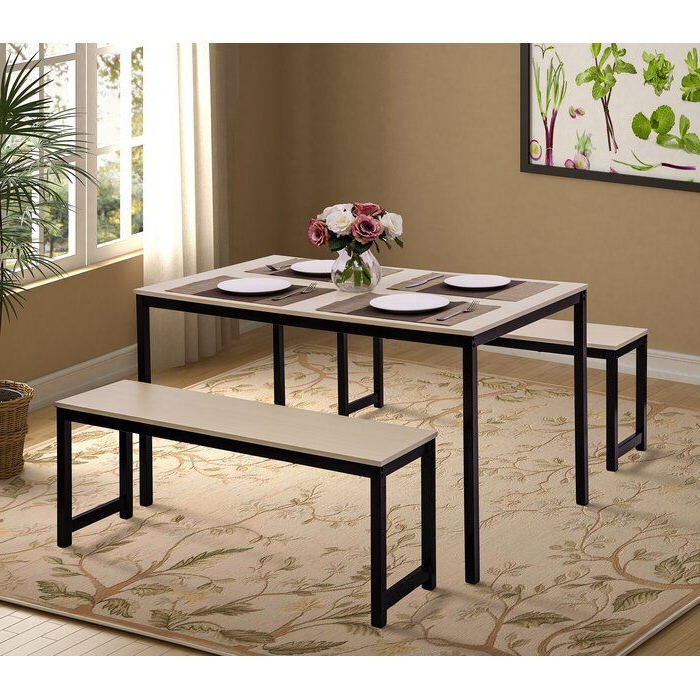 Most Up To Date Partin 3 Piece Dining Sets In Partin 3 Piece Dining Set In  (View 11 of 19)