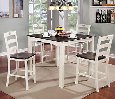 Most Up To Date Red Barrel Studio Burgess 5 Piece Counter Height Dining Set Intended For Hanska Wooden 5 Piece Counter Height Dining Table Sets (Set Of 5) (View 8 of 20)