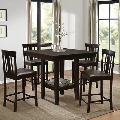 Most Up To Date Red Barrel Studio Shorebilly 5 Piece Counter Height Dining Set Intended For Hanska Wooden 5 Piece Counter Height Dining Table Sets (set Of 5) (View 8 of 20)