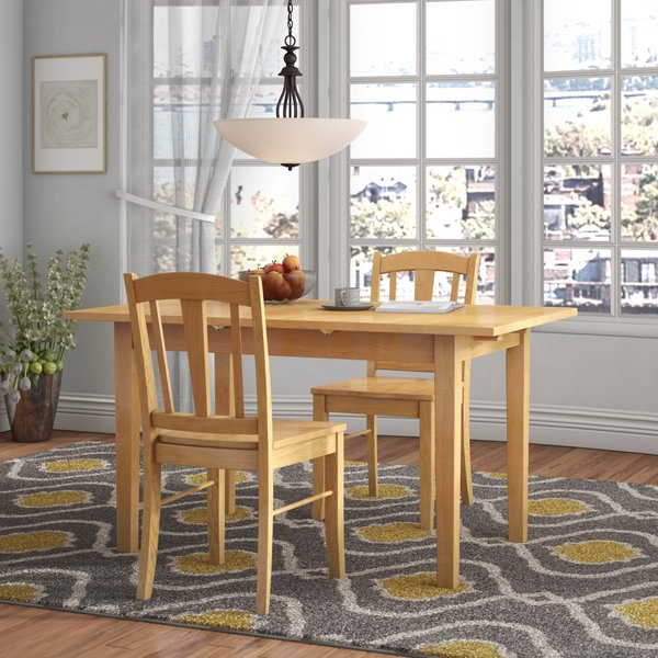 Most Up To Date Smyrna 3 Piece Dining Sets For 1 Smyrna 7 Piece Solid Wood Dining Setcharlton Home Great (View 8 of 20)