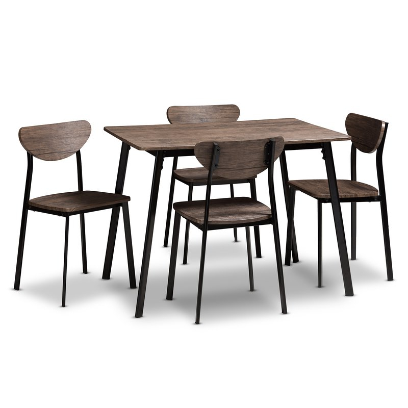 Most Up To Date Telauges 5 Piece Dining Sets Throughout Union Rustic Tejeda 5 Piece Dining Set & Reviews (View 6 of 20)