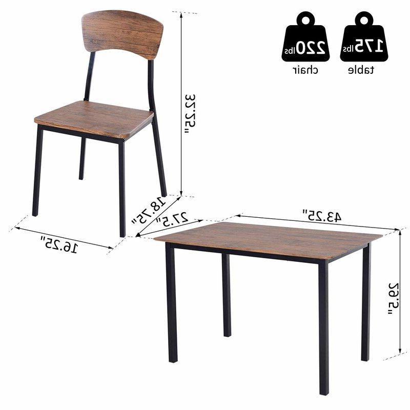 Most Up To Date Union Rustic Castellanos Modern 5 Piece Counter Height Dining Set With Regard To Castellanos Modern 5 Piece Counter Height Dining Sets (View 16 of 20)