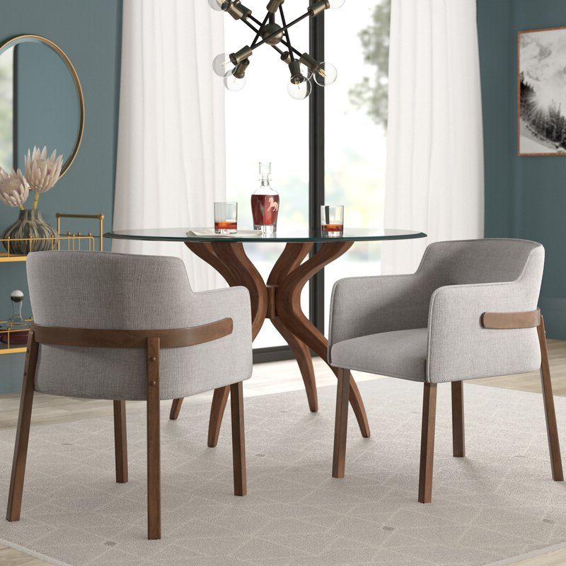 Mukai 5 Piece Dining Sets Inside Latest Mukai Upholstered Dining Chair & Reviews (View 8 of 20)