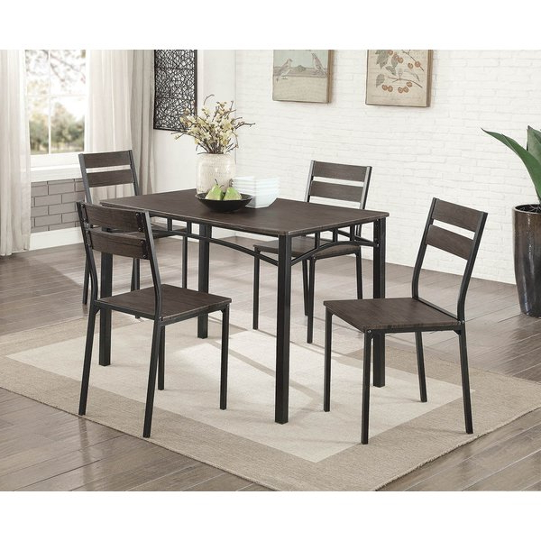 Newest Autberry 5 Piece Dining Sets In Gracie Oaks Autberry 5 Piece Dining Set (Gallery 1 of 20)