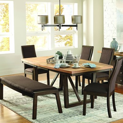 Newest Baillie 3 Piece Dining Sets Intended For Loon Peak Delwood Extendable Dining Table In  (View 13 of 20)