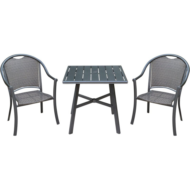 Newest Charlton Home Bearden 3 Piece Commercial Grade Patio Set With 2 With Bearden 3 Piece Dining Sets (Gallery 6 of 20)
