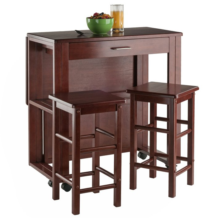 Newest Crownover 3 Piece Bar Table Sets Regarding Red Barrel Studio Crownover 3 Piece Bar Table Set & Reviews (View 3 of 20)