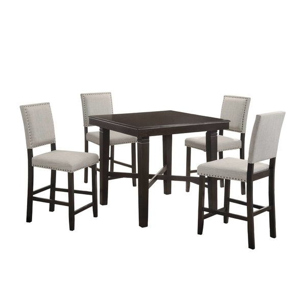 Newest ⭐ Bennet Solid Wood 7 Piece Counter Height Extendable Dining Set Regarding Biggs 5 Piece Counter Height Solid Wood Dining Sets (Set Of 5) (View 11 of 20)