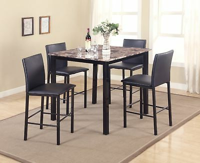 Newest Hanska Wooden 5 Piece Counter Height Dining Table Sets (Set Of 5) With Regard To Red Barrel Studio Belmore 5 Piece Counter Height Dining Set (View 11 of 20)