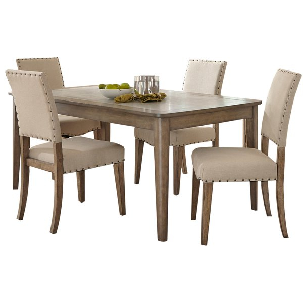 Newest Mizpah 3 Piece Counter Height Dining Sets Inside Crisp 5 Piece Dining Setthree Posts Bargain On (View 18 of 20)