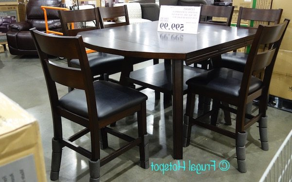 Newest Noyes 5 Piece Dining Sets Pertaining To Bayside 7 Piece Dining Set Costco Review At Home Dining Sets (Gallery 9 of 20)