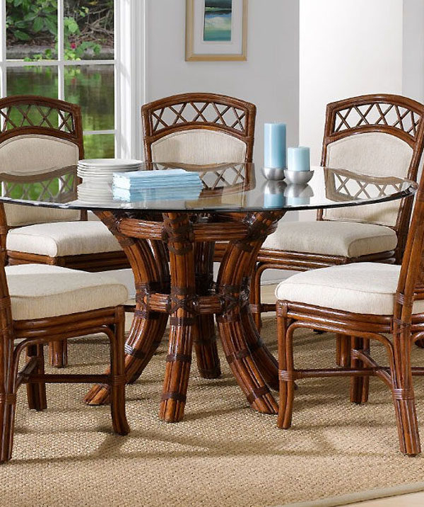 Newest Saintcroix 3 Piece Dining Sets Throughout Saint Croix Dining Table With 54 Inch Round Glass From Classic (View 4 of 20)