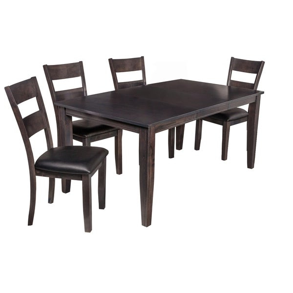 """Newest Shop 5 Piece Solid Wood Dining Set """"aden"""", Modern Kitchen Table Set Within Adan 5 Piece Solid Wood Dining Sets (Set Of 5) (View 13 of 20)"""