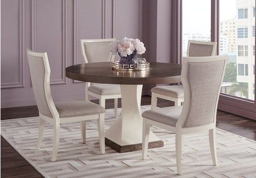 Newest Sofia Vergara Santa Fiora White 5 Pc Round Dining Room In 2019 Within Lamotte 5 Piece Dining Sets (View 19 of 20)