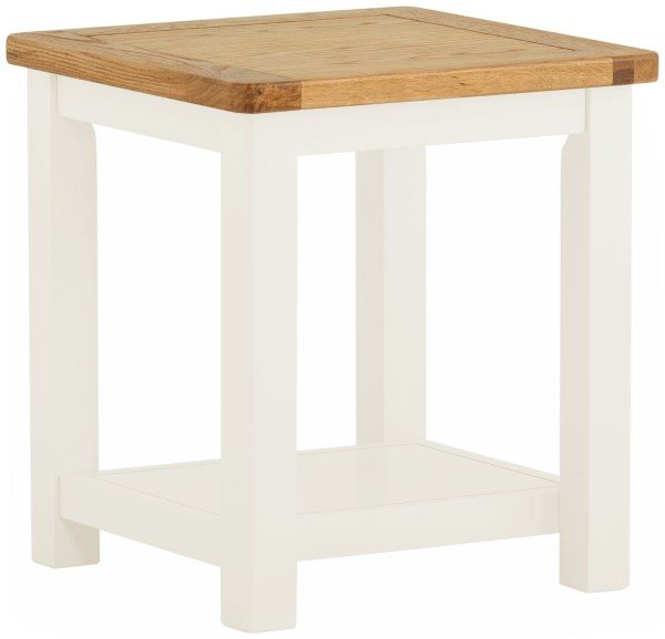 Northwood Lamp Table In White – Living – Solent Beds Limited In Most Popular Northwoods 3 Piece Dining Sets (View 17 of 20)