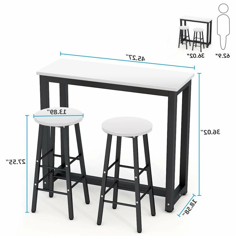 Northwoods 3 Piece Dining Sets Throughout Preferred Ebern Designs Northwoods 3 Piece Dining Set (View 3 of 20)