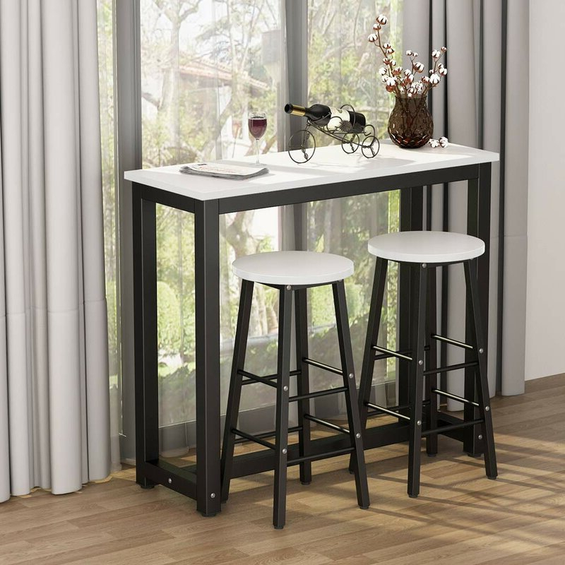 Northwoods 3 Piece Dining Sets Within Latest Ebern Designs Northwoods 3 Piece Dining Set (View 2 of 20)