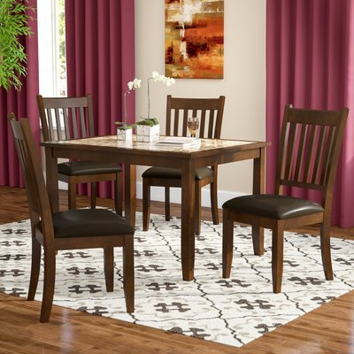 Noyes 5 Piece Dining Sets In Current Red Barrel Studio Ventura 5 Piece Dining Set (View 10 of 20)
