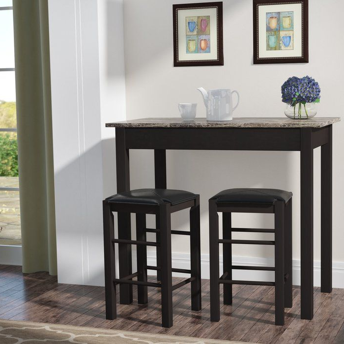 Noyes 5 Piece Dining Sets Intended For Most Popular Prosser 3 Piece Counter Height Dining Set (Gallery 10 of 20)